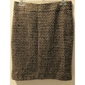 J Crew Skirt Wool Lined Brown Plaid Size 2